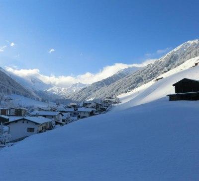 Winterlandschaft - Blick zum Hintertuxer Gletscher