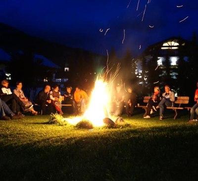 Lagerfeuer im Juli und August (nur bei Schönwetter, © Judith Kathrein