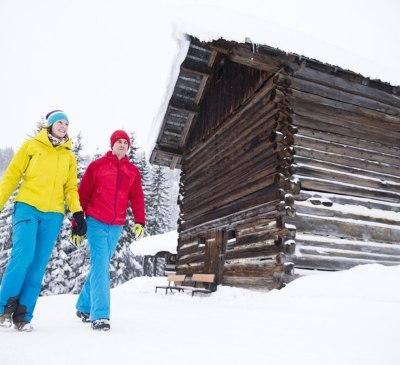 Über 50km Winterwanderwegenetz im Kleinwalsertal