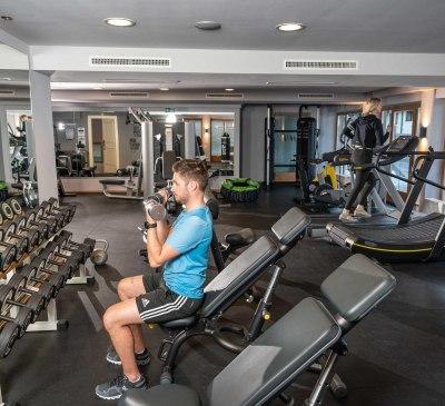 Fitnessarea im Adler Inn Tyrol Mountain Resort