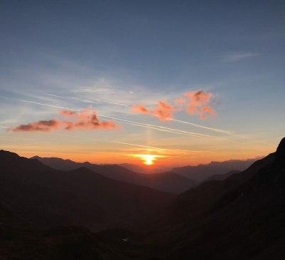 Sonnenaufgang in Tux
