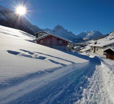 Winterwanderweg in Stubenbach