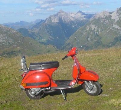 Vespa 200E am Kiegerhorn, © foto-felix