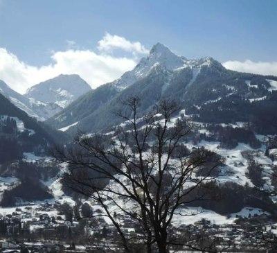 Aussicht Winter Rätikon